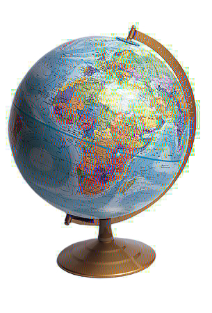 globe in color